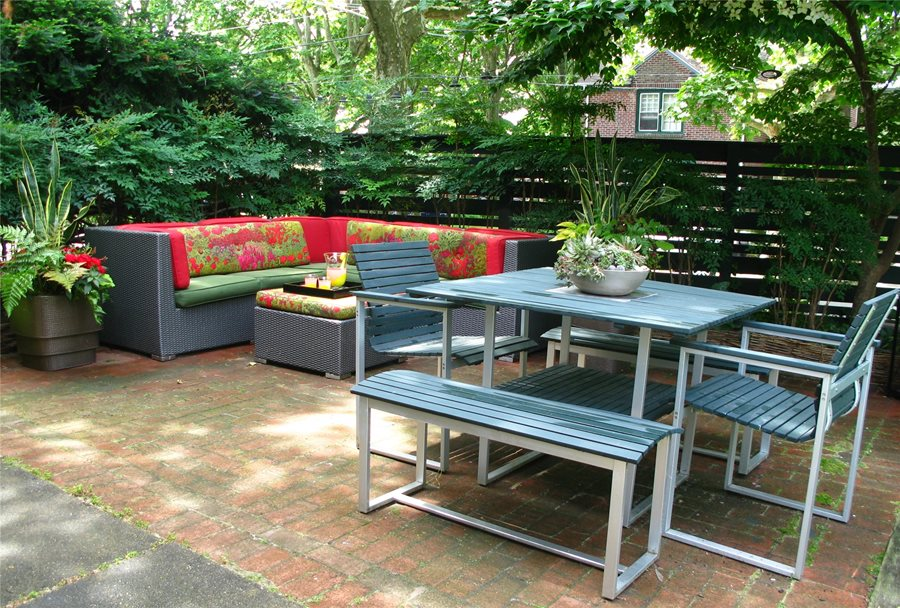 city garden patio tropical landscaping livable landscapes wyndmoor pa
