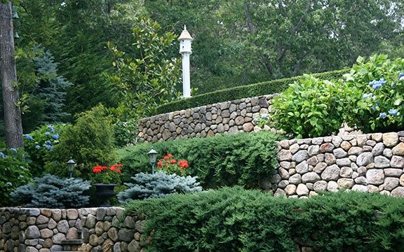 rock wall landscaping flagstone walkway and path elaine m johnson landscape design centerville ma dry stacked stone walls landscaping network