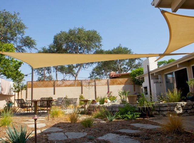 Backyard Shade Sails - Landscaping Network