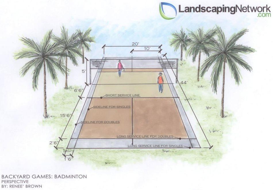 Backyard Badminton Court - Landscaping Network