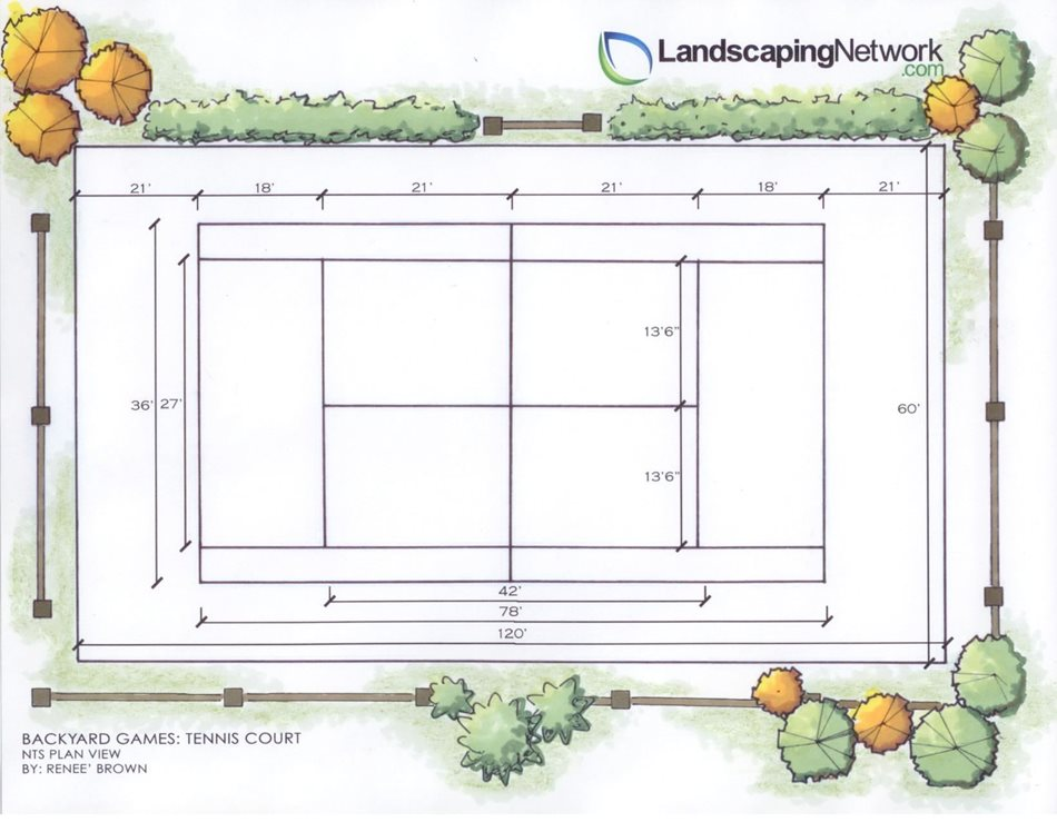 Tennis Court Landscaping