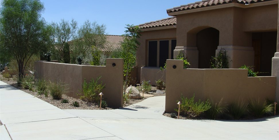 courtyard walls
