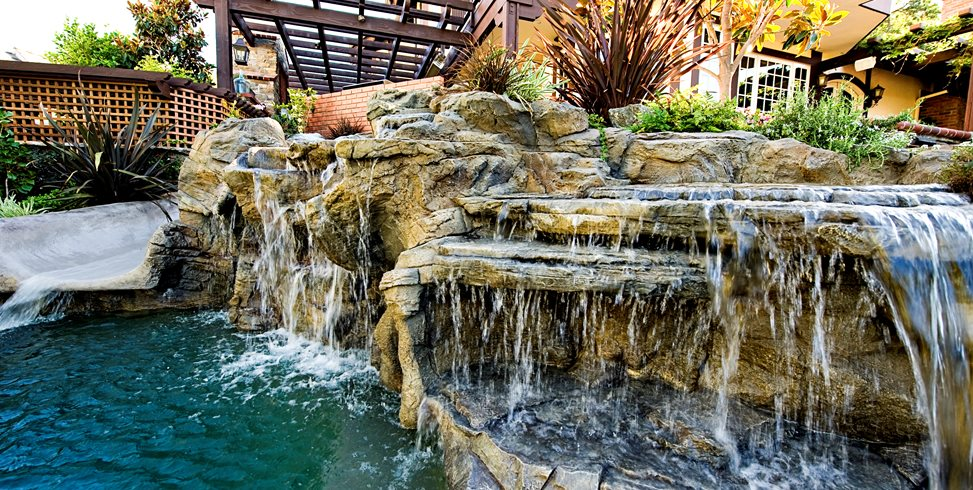 Faux Rock Pool Waterfall Lifescape Designs Simi Valley, CA