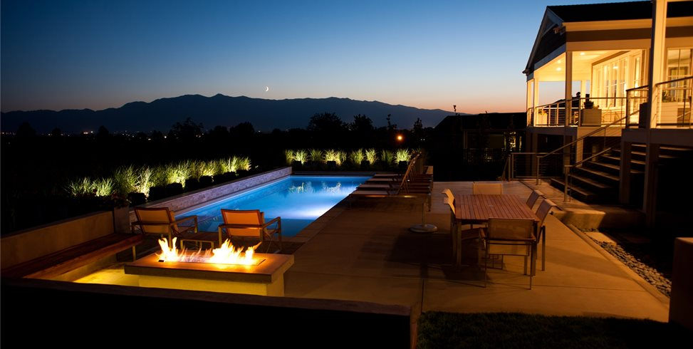 Modern Pool Lighting Ag-Trac Enterprises Logan, UT