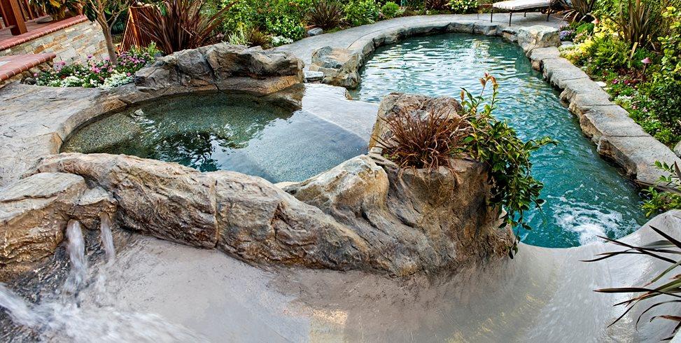 Open Flume Waterslide Lifescape Designs Simi Valley, CA