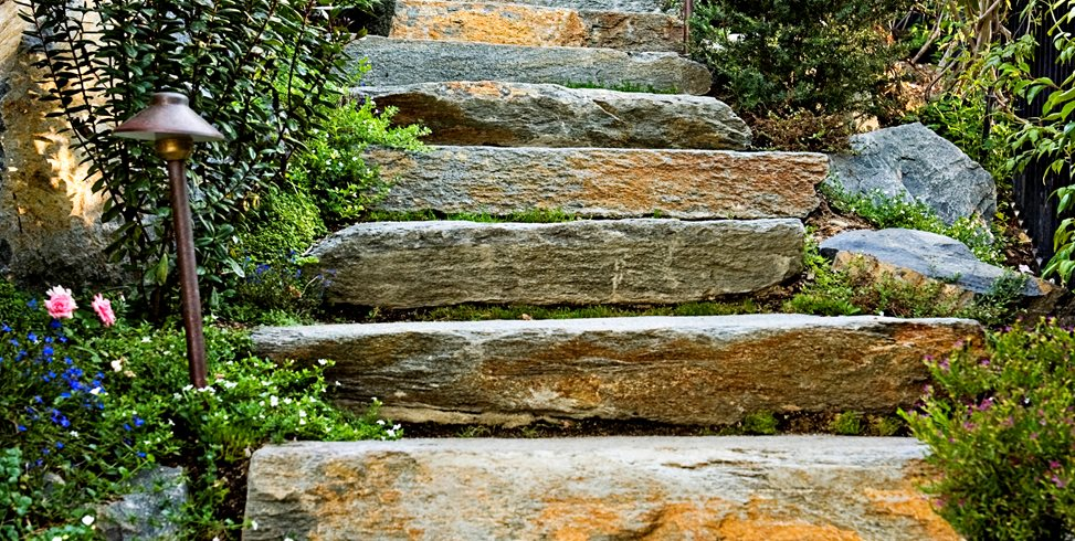 Stone Slab Steps Lifescape Designs Simi Valley, CA