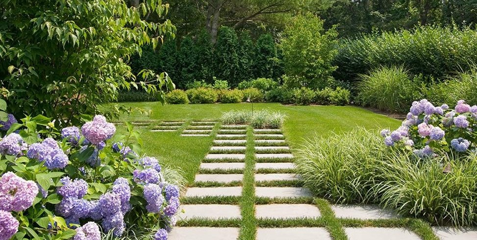 Pavers, Purple, Grass Barry Block Landscape Design & Contracting East Moriches, NY