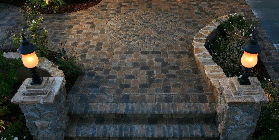 Paver Steps Circle Asian Landscaping Lisa Cox Landscape Design Solvang, CA