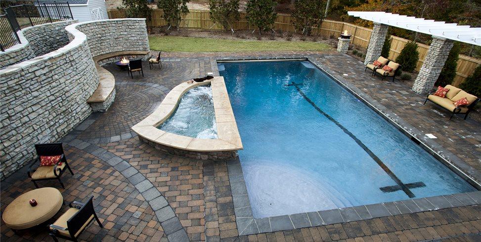 Large Lap Pool Concrete Paving Mid Atlantic Enterprise Inc Williamsburg, VA