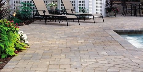 Paver Pool Deck, Brown Pavers Concrete Paving StoneScapes Design Hanover, MD