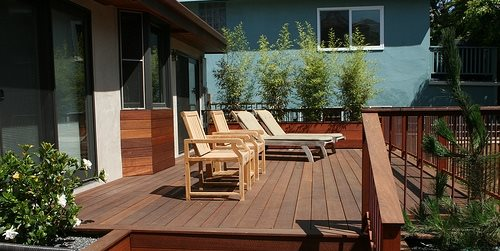 Deck Size Height Landscaping Network Custom Backyard Deck Design Property