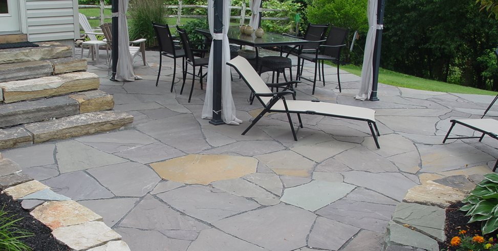 How to install flagstone landscaping network flagstone devine escapes schwenksville pa solutioingenieria