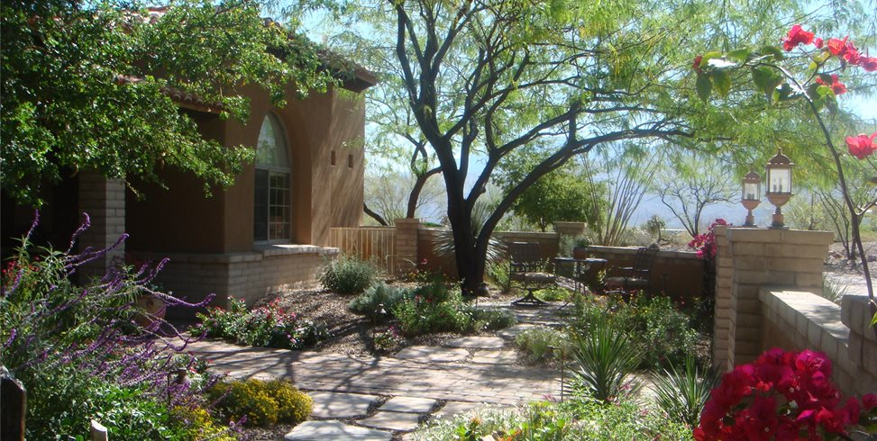 Garden Walkway Garden Design Casa Serena Landscape Designs LLC Las Cruces, NM