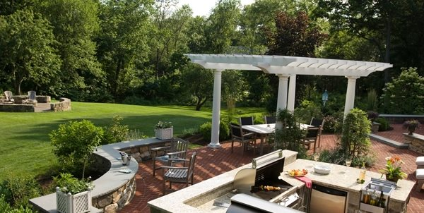 Outdoor Living Backyard Garden Design Hoffman Landscapes Wilton, CT
