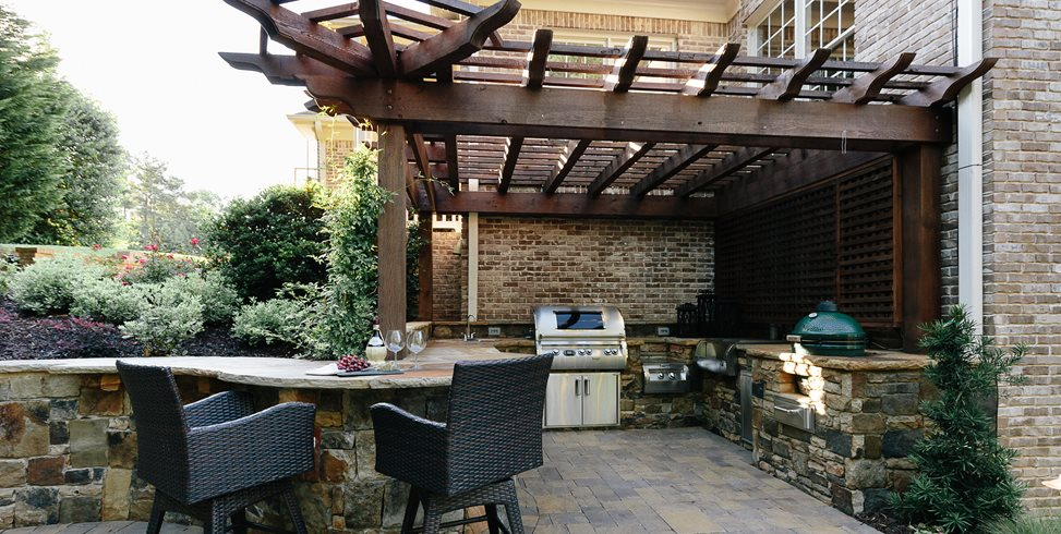 Canton Outdoor Kitchen, Custom Outdoor Kitchen Outdoor Kitchen Miller Landscape Woodstock, GA