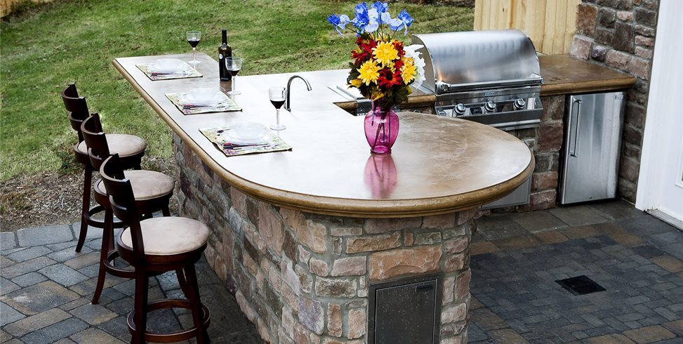 Outdoor Concrete Countertops Outdoor Kitchen Mid Atlantic Enterprise Inc Williamsburg, VA