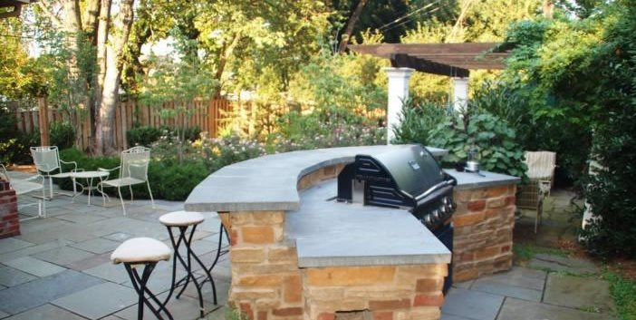 Outdoor Kitchen Bar Outdoor Kitchen Grow Landscapes Falls Church, VA