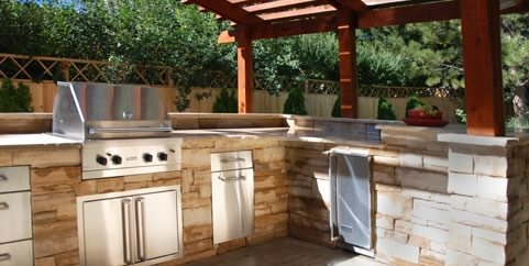 l shaped outdoor kitchen