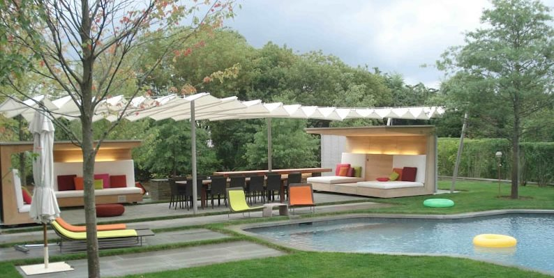 Modern Backyard Ideas Pergola and Patio Cover Christensen Landscape Services Northford, CT