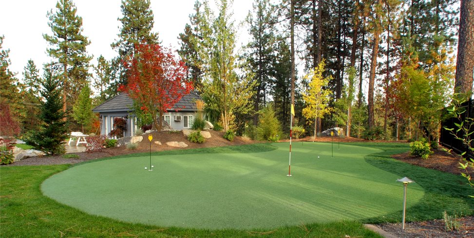 Artificial Putting Green Copper Creek Landscaping, Inc. Mead, WA