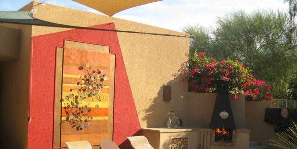Backyard Art John Vogley Landscape Arch Palm Desert, CA