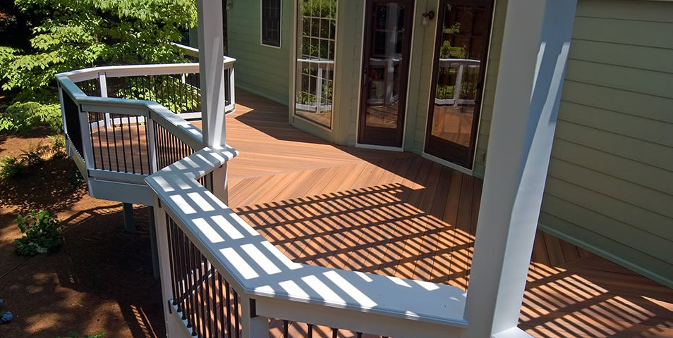 Backyard Deck Peach Tree Decks & Porches Atlanta, GA