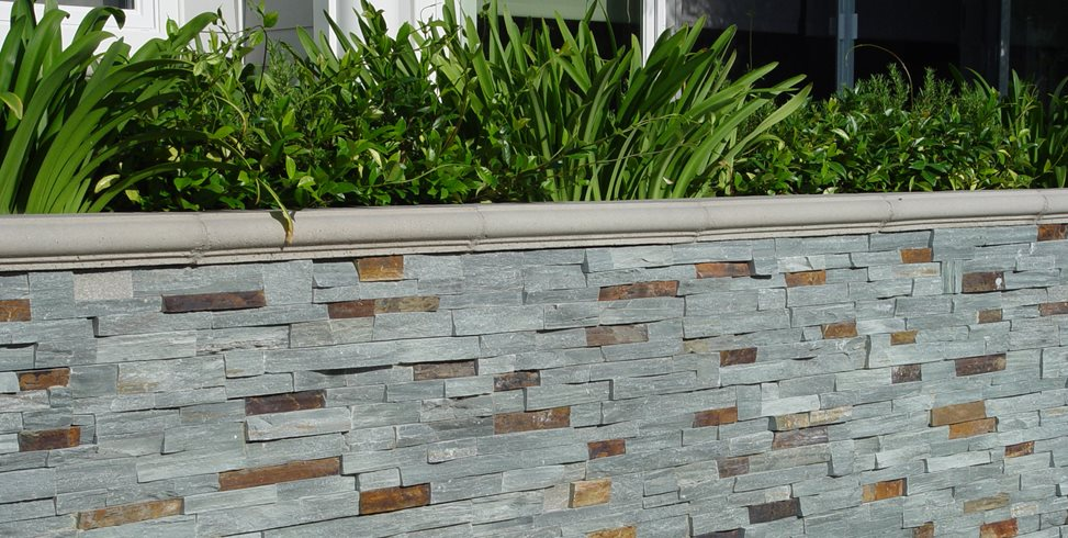 Bluestone Veneer, Retaining Wall, Stone Veneer Maureen Gilmer Morongo  Valley, CA
