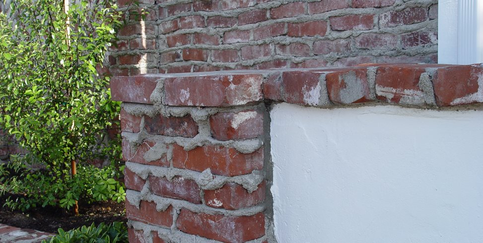 Brick Wall, Weeping Mortar Joints Maureen Gilmer Morongo Valley, CA