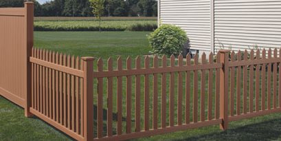 Brown Picket Fence, Textured Vinyl CertainTeed ,