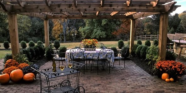 Clay Brick, Brown Brick, Brick Patio, Running Bond Landscape Aesthetics Bernardsville, NJ