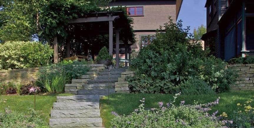 Coastal, Stairs, Grasses A J Miller Landscape Architecture Syracuse, NY