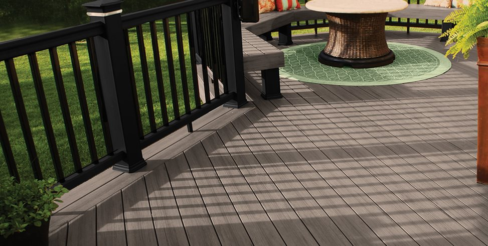 Composite Deck, Gray Deck, Diagonal Boards TimberTech Wilmington, OH