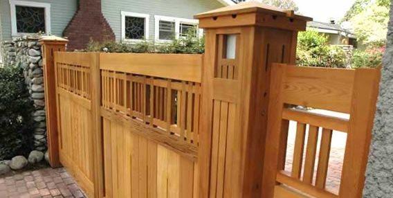 Craftsman Gate Charles Prowell Woodworks Sebastopol, CA