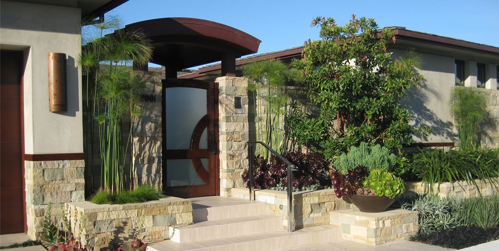 Custom Entry Gate David A. Pedersen Landscape Architect Newport Beach, CA