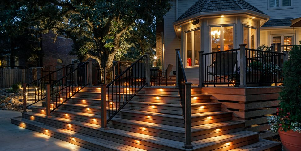deck lighting step lights mckay landscape lighting omaha ne - Deck Lighting Ideas