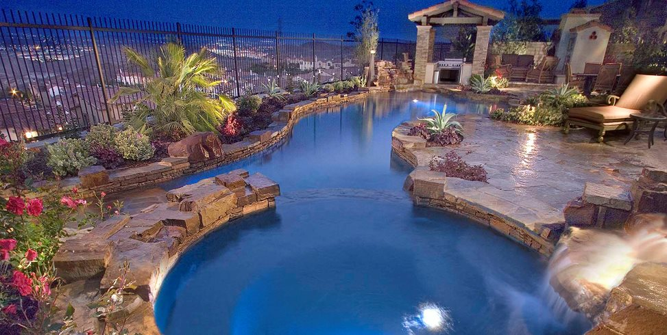 Free Form Lap Pool Alderete Pools Inc. San Clemente, CA