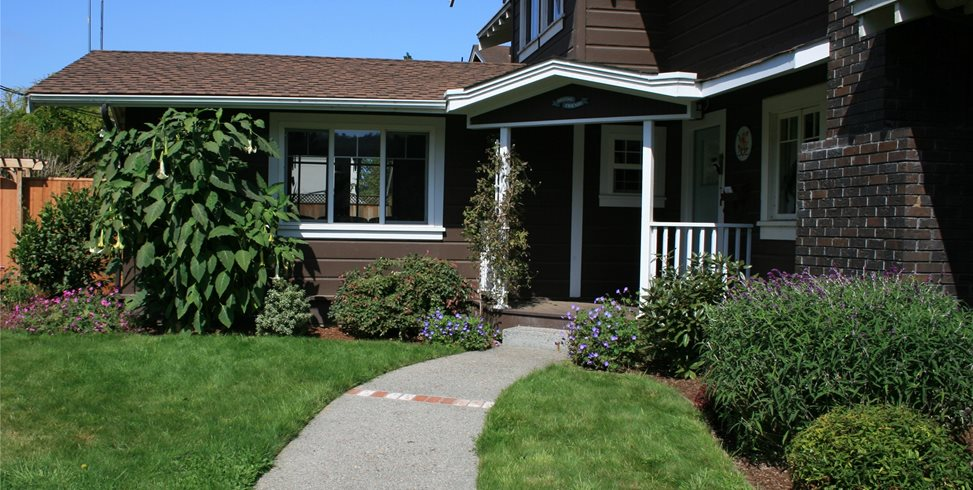 Front Entry Walkway Genevieve Schmidt Landscape Design And Fine Maintenance  Arcata, CA