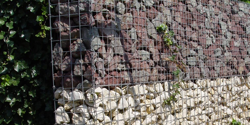 Gabion Retaining Wall, Waste Rock Maureen Gilmer Morongo Valley, CA