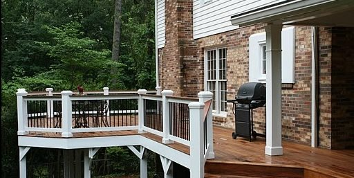 High Deck, Deck Railing Innovative Outdoors Duluth, GA