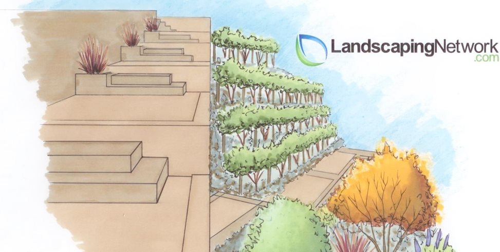 Hillside Drawing Landscaping Network Calimesa, CA