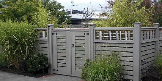 Lattice Top Fence Devonshire Landscapes Seattle, WA