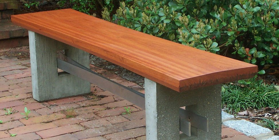 Mahogany Bench Douglas Thayer Design Westhampton, MA