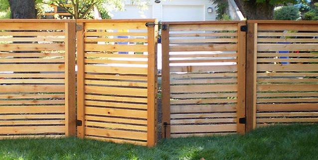 Modern Fence, Modern Gate Paradise Restored Landscaping Portland, OR