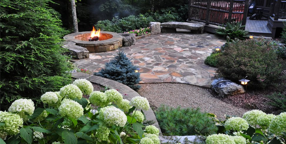 Patio, Elevated, Crab Orchard, Random Stone Greenleaf Services Inc. Linville, NC