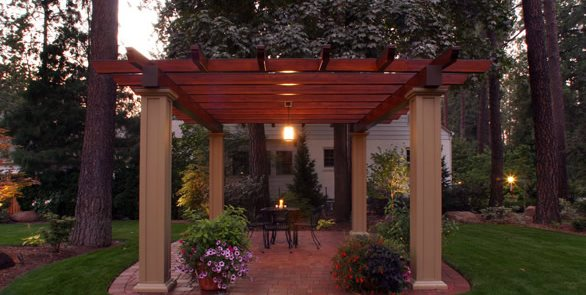 Pergola Lighting, Pendant Copper Creek Landscaping, Inc. Mead, WA