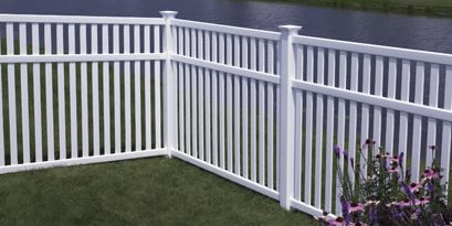Picket Fence With Top Rail CertainTeed ,