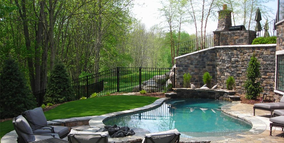 Pool & Fire Pit Apex Landscape Grand Rapids, MI