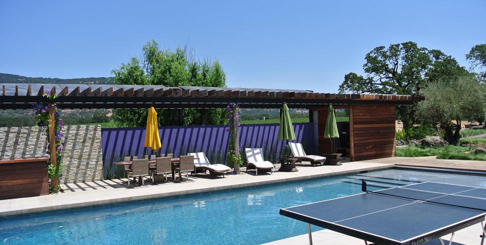Pool Pergola Shades of Green Landscape Architecture Sausalito, CA