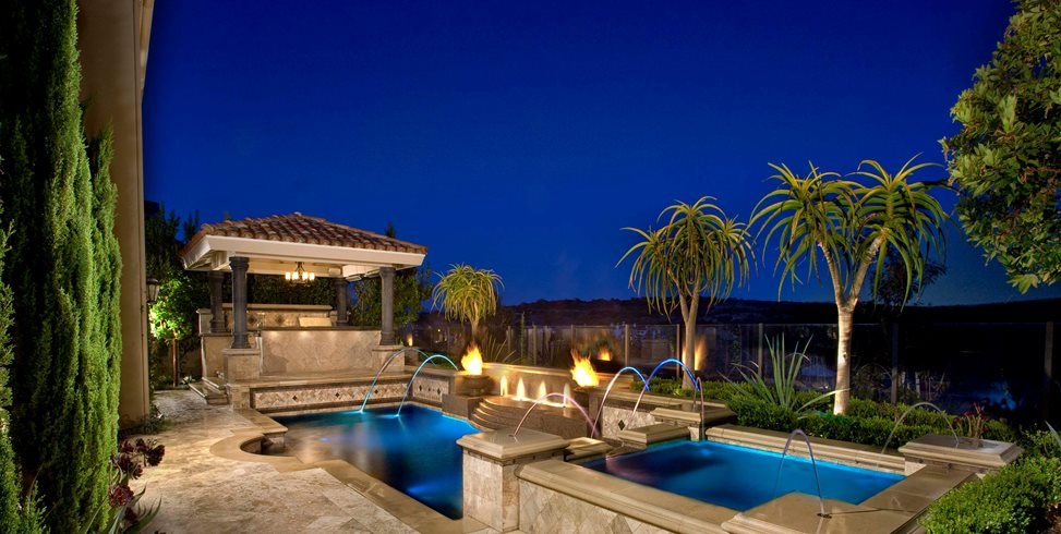 Raised Spa, Pool, Ramada Alderete Pools Inc. San Clemente, CA