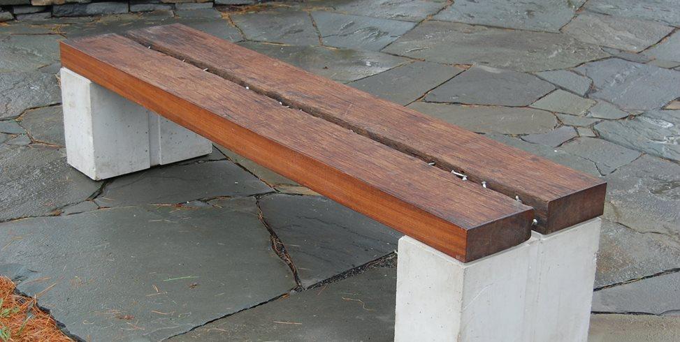 Reclaimed Bench Douglas Thayer Design Westhampton, MA